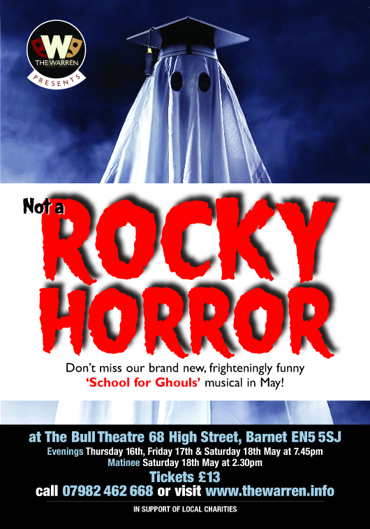 Poster for Not A Rocky Horror, our 2019 summer show